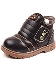 Boys Winter Boots Girls Snow Boots Waterproof Kids boots Fur Lined Ankle Boots Toddler Little Big Kids