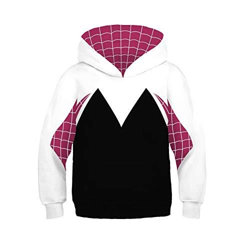 Venom Hoodie Boys,Kids Girls Gwen Stacy Venom Hoodie Spider-Verse Hooded Pullover Shirt ()