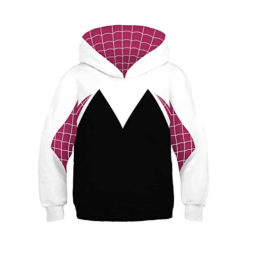 HPY Unisex Toddler Kids Spider-Gwen Hoodie Costume Christmas Halloween 4-12years Old, AXS