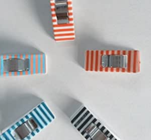 Craft Clips DESIGNER COLLECTION - Exclusive Designs! All Purpose Craft Clips - Perfect for Sewing Clips, Quilting Clips, Arts & Crafts & More - Evergreen Art Supply - Design: STRIPES