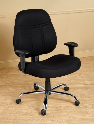 1,000-lb. Office Chair with Arms - Black by LivingXL