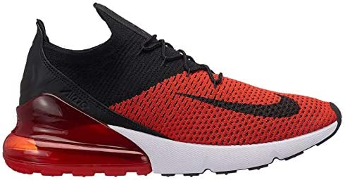 Nike Air Max 270 Flyknit – Men s Chili Red Black Challenge Red White Nylon Training Shoes 8.5 D M US