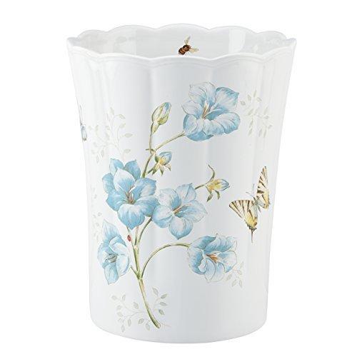 (Butterfly Meadow Blue Waste Basket by Lenox)
