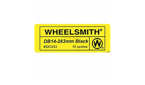 Wheelsmith DB14 Spokes 2.0//1.7 x 298mm Silver Bag of 50