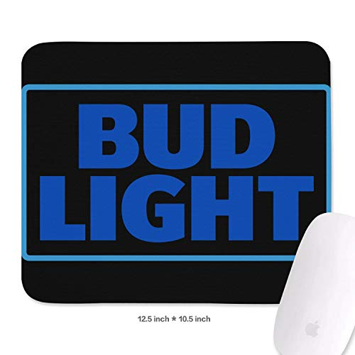 Anheuser Busch InBev Buld Light Mouse Pad Funy Printed Cheap Pattern Mouse Pad for Desktop&Laptop ()