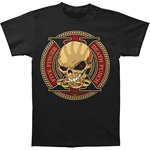 Five Finger Death Punch Men's Trouble Decate of Destruction T-Shirt X-Large Black