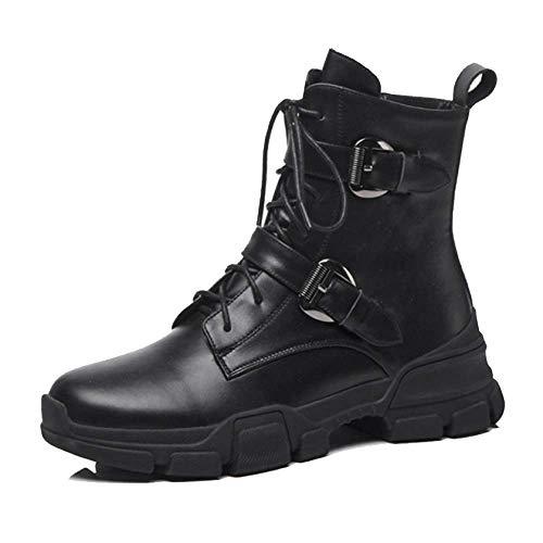 Bottes slip Anti Zqzq dames Mode Cuir Casual À pour porter noir Aqx815