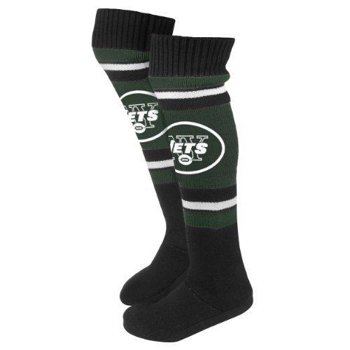 2013 Nfl Fotboll Womens Knä Hög Sticka Boot Tofflor New York Jets