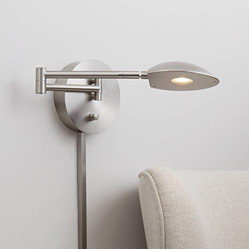 (Possini Euro Eliptik Satin Nickel LED Swing Arm Wall Lamp - Possini Euro Design)