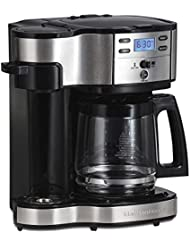 Hamilton Beach (49980A) Single Serve Coffee Maker and Coffee Pot Maker, Programmable, Black/Stainless Steel (Certified Refurbished)
