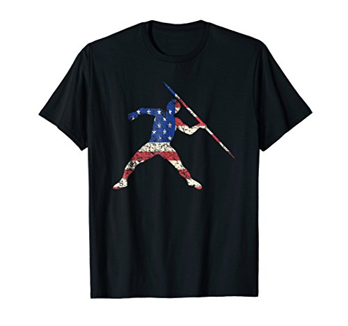 - Javelin Thrower T-shirt American Flag Track and Field Tee