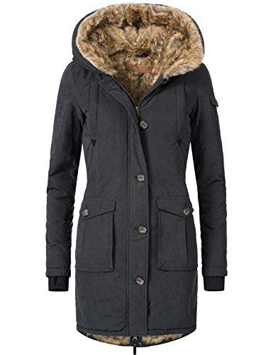 Eight2Nine Damen Winter Mantel Winterparka 44410A1EN 3 Farben S-XL Schwarz TMX3jIbU