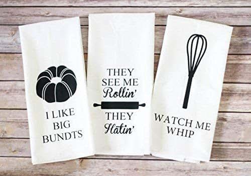 Amazon.com: Flour Sack Tea Towels, Funny Tea Towels