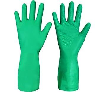 2 Par de guantes nitri-chem 9 > grande abrasivos y resistente químicos, seguridad