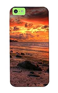 Iphone 5c Case - Tpu Case Protective For Iphone 5c- Firey Dusk Sky Case For Thanksgiving's Gift