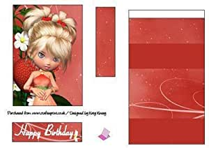 Delicia de la fresa de caballete Tarjeta de Katy Kinsey