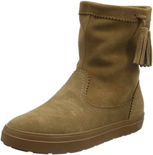CROCS LODGEPOINT SUEDE PULL ON CROCBAND WINTER HIGH SNOW BOOT~Brown Tan~W 10~NEW
