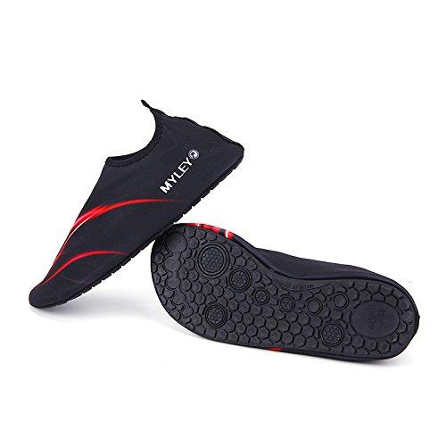 HYSENM Barefoot Water Shoes Surf Pool Yoga Beach Swim Exercise Aqua Socks For Women Men Kids red vRdPggQeUU