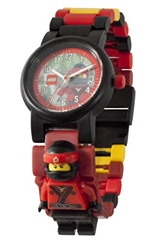 LEGO Ninjago Movie Kai Kids Minifigure Link Buildable Watch | red/black| plastic | 28mm case diameter| analog quartz | boy girl | official