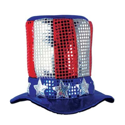 Glitz 'N Gleam Uncle Sam Top Hat Party Accessory (1 (Halloween Costume Themes For Groups)