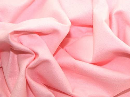 Tela de franela y algodón Winceyette de color rosa para vestido ...