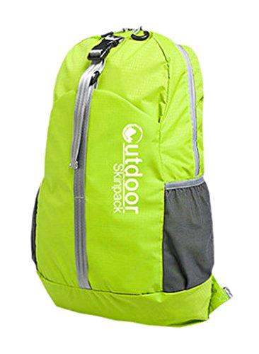 Wasserdicht faltbarer Rucksack Ultra-Leicht-Spielraum-Rucksack Grün 20L
