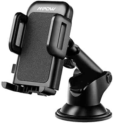 Mpow Car Phone Mount, Dashboard Car Phone Holder, Washable Strong Sticky Gel Pad with One-Touch Design Compatible iPhone Xs/XS MAX/XR/X/8/8Plus/7/7Plus, Galaxy S8/9/10, Google Nexus, Huawei and More