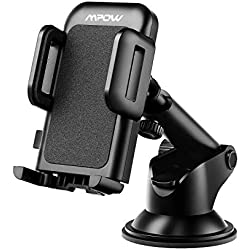 Mpow Car Phone Mount, Dashboard Car Phone Holder, Washable Strong Sticky Gel Pad with One-Touch Design Compatible iPhone Xs,XS MAX,XR,X,8,8Plus,7,7Plus,6,6Plus, Galaxy S7,8,9,10, Google Nexus, Black