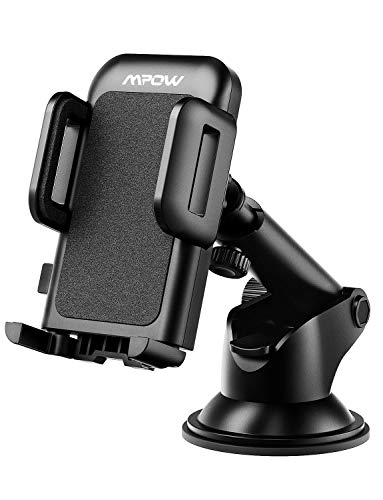 Mpow Car Phone Mount, Dashboard Car Phone Holder, Washable Strong Sticky Gel Pad with One-Touch Design Compatible iPhone 11 pro,11 pro max,X,XS,XR,8,7,6 Plus,Galaxy S7,8,9,10,Google Nexus, Black from Mpow