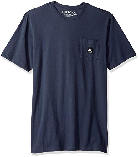 - Burton Men's Colfax Short Sleeve Tee, Mood Indigo W19, Large