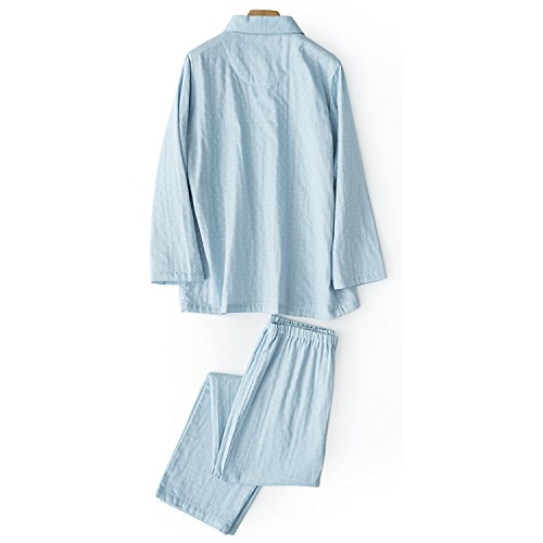 Pijamas Blue Parejas Adultos Larga Maduras Camisones Blue Hombre Pareja Sexy Manga Vestido Primavera Para De male color Size Dos L Camisa Trajes Albornoces Mujeres male m Dark Bxyr XywcqYIgK