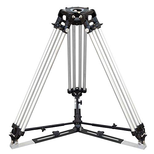 PROAIM Mitchell Tripod Stand with Mid-Level & Ground Spreader | Heavy-Duty Yet Lightweight Aluminum Made, 2-Stage, Twin Legs, Payload - 500kg/1100lb | for RED ARRI Sony Panasonic Cameras (P-MTCL-STD) ()