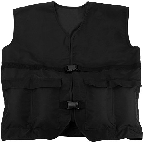 Crown Sporting Goods 4 kg (8.8 lbs) Cardio Weighted Vest - Adjustable Weight Jacket for Resistance Training with 9 Additional 1 lb. Weights by Crown Sporting Goods