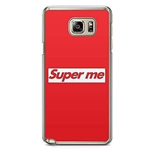 Samsung Note 5 Transparent Edge Phone Case Superme Phone Case Funny Note 5 Cover with Transparent Frame