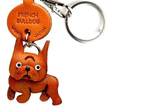 Amazon.com: Bulldog francés piel Perro Pequeño llavero vanca ...