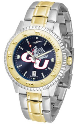 (SunTime Gonzaga Bulldogs Competitor AnoChrome Two Tone Watch)