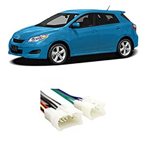 amazon com fits toyota matrix 2005 2013 factory stereo to Toyota Highlander Wiring Harness