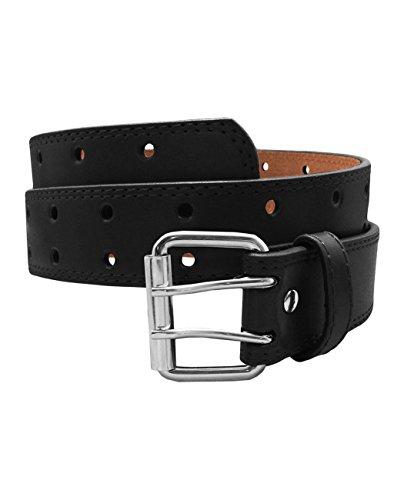 Plus Size Belt (EURO Women's Thick Wide Leather Belt - BN9041 - Black - Medium)