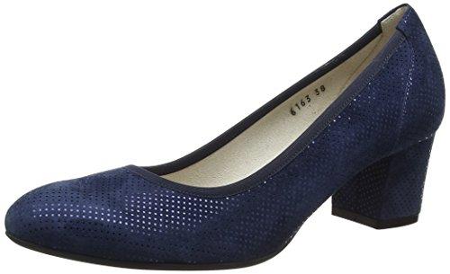 Mujer Con Zapatos Para Notte Melluso Tacón Azul notte Cerrada De Donna Punta 8HI8qwZBx