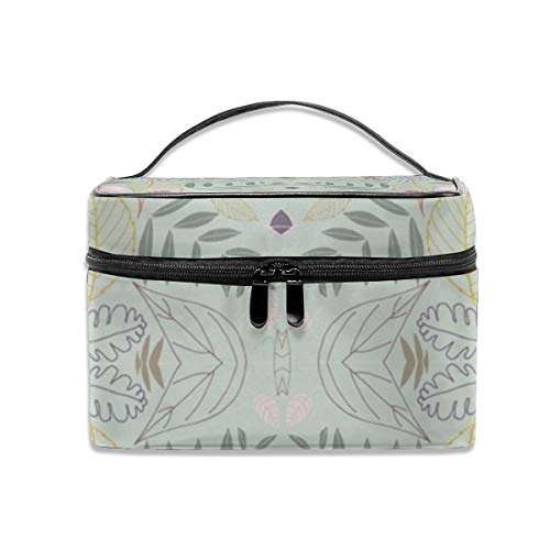 Dkhh Autumn Leaves Morning Mist Wallpaper (1429) Travel Makeup Bag Cosmetic Cases Organizer Portable Storage Bag for Cosmetics Makeup Brushes Toiletry Travel Accessories