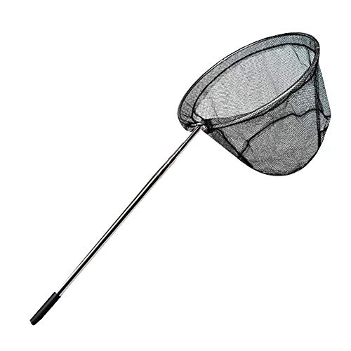 Butterfly Net Telescopic Insect and Fishing Net Perfect for Kids Catching Bugs Small Fish, Handle Extends to 32 Inches (Black-)