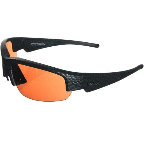 Maxx Sunglasses Dynasty 2.0 Black Carbon Fiber HD Amber - Maxx Sunglasses Hd