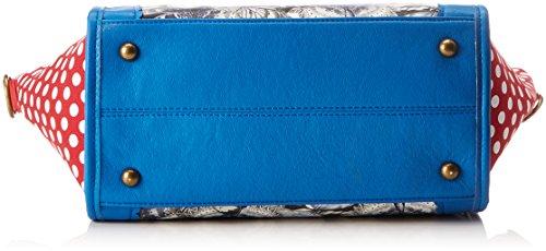 LAURA VITA Dax - Borse a spalla Donna, Blau (Bleu), 12x23x26 cm (B x H T)