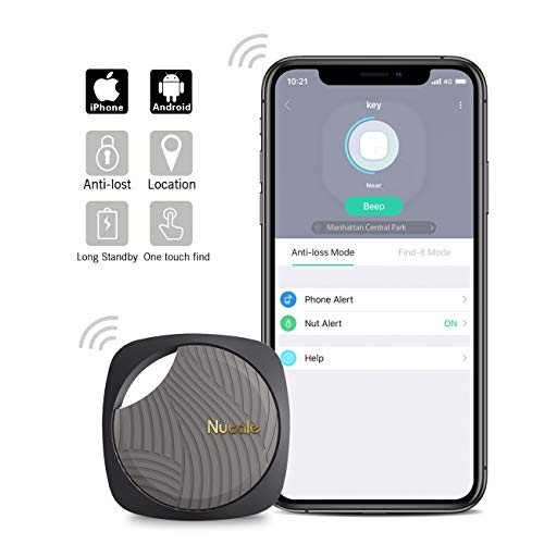 Nutale Focus Bluetooth Key Finder Smart Tracker - Kids, Pet, Dog, Car Key, Wallet Tracker with Phone App - Key Locator Tracking Device with Anti-Lost Alarm Reminder, 150 ft. Range (Black, 1 Pack)