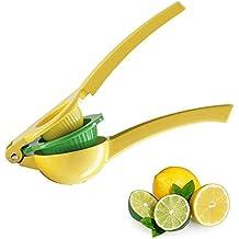 Manual Metal Fruit Lemon Squeezer - Aluminum Alloy Citrus Hand Press Juice Extractor Juicer, 2 in 1