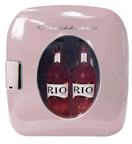 Frigidaire EFMIS462-PINK 12 Can Retro Mini Portable Personal Fridge/Cooler for Home, Office or Dorm, Pink (Renewed)