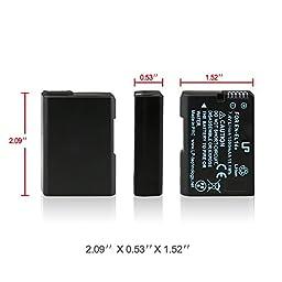 LP , Nikon EN-EL14 , Replacement Battery for Nikon D3100 D3200 D5100 D5200 P7000 P7100 (Black)