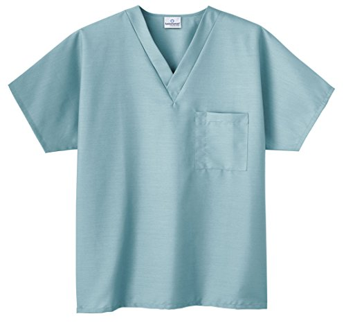White Swan Unisex Solid Nursing Uniform Scrub Top (6X, - Nursing Unisex Top Scrubs
