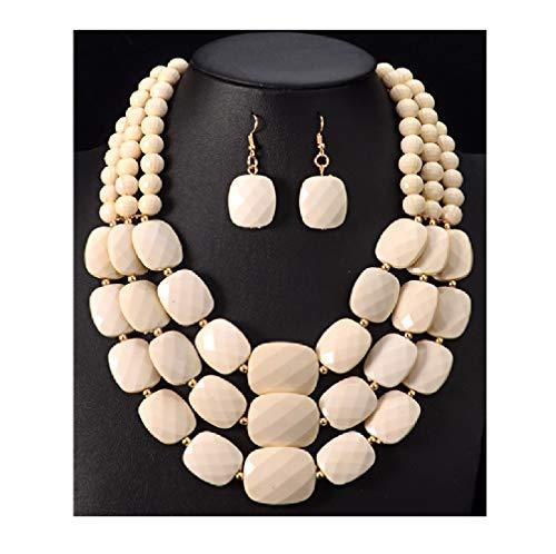 4pc Beautiful Bride Costumes - Nigeria Wedding African Beads Jewelry Set