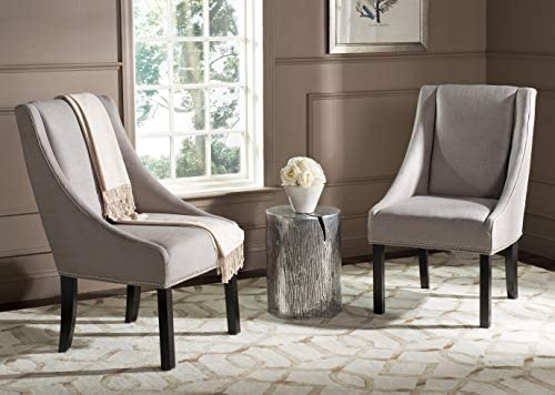 Safavieh Mercer Collection Morris Sloping Arm Dining Chair, Set of 2, Oyster